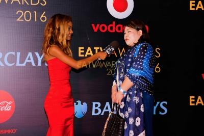 Mahojiano kwenye Red Carpet ya EATV AWARDS
